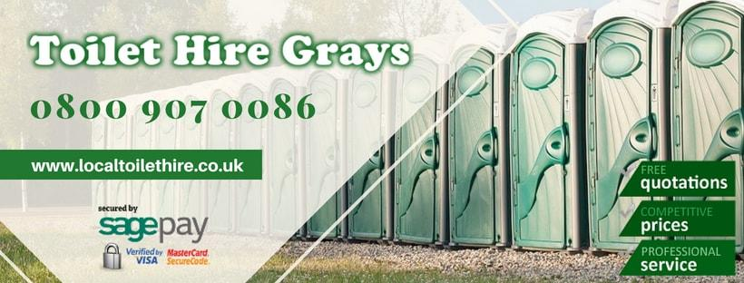 Portable Toilet Hire Grays